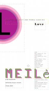 "Poster for the ""6th International Artist's Book Triennial Vilnius 2012"""