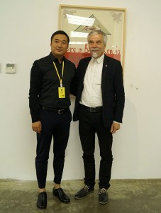 Kestutis Vasiliunas with the boss Mr. Li Yingxu in the Exhibition