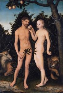 """Lucas Cranach the Elder """"Adam & Eva"""""""