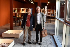 Meetin Giuliano Santini in the Exhibition in Urbino