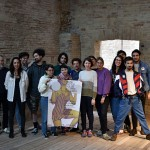 Artist's book workshop in Urbino - with the students