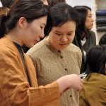 Students on the artist's book lecture in the Tokyo University of the Arts