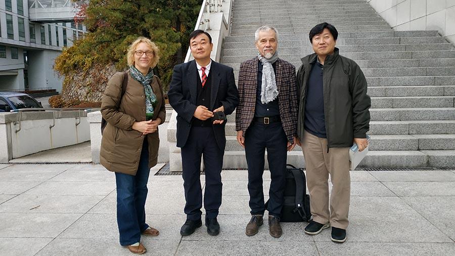 With Roberta, Vice President Prof. Young Geun Park & Vice President Prof. Chang-Soo Kim