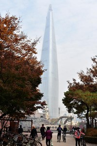 Lotte World Tower - 555-metre supertall skyscraper located in Seoul, South Korea is the 5th tallest building in the world