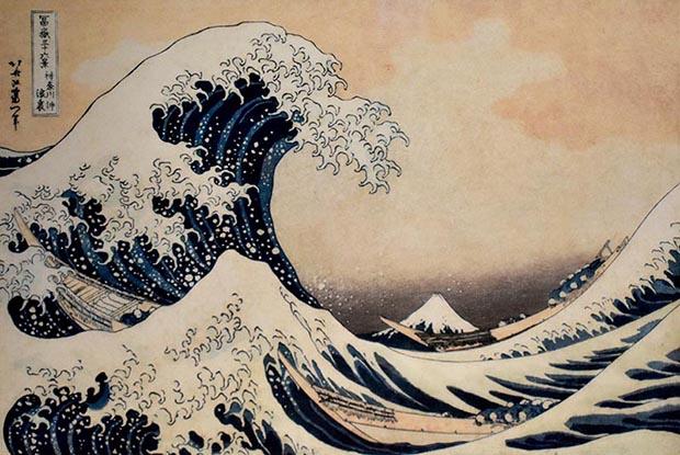 Hokusai. The Great Wave off Kanagawa. 1829-1833