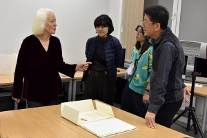 Barbara Beisinghoff with students from Japan and Prof. Ryuta Endo