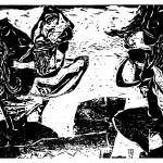 """Kestutis Vasiliunas. """"Voluptuousnes"""". 1998, woodcut, 51 x 62 cm"""