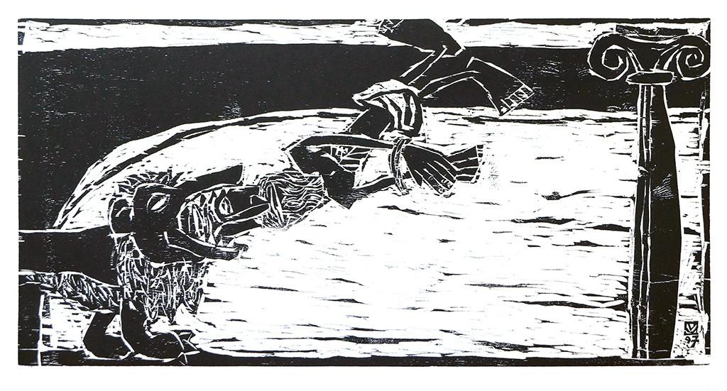 Kestutis-Vasiliunas_Printmaking-Death-of-Saint-Ignatius-1997