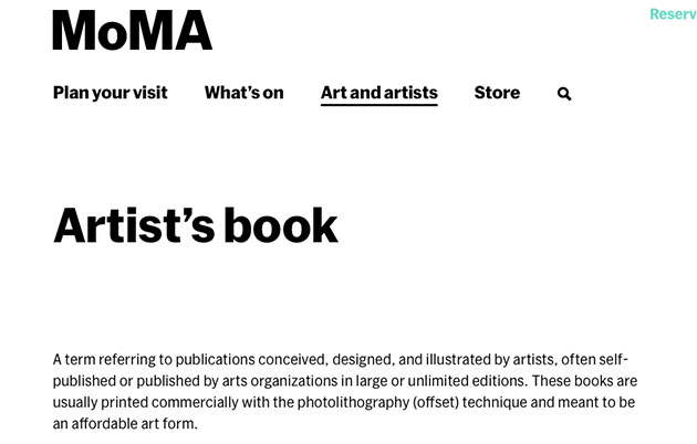 artists-book-in-MoMA