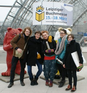 Students in Leipzig Book Fair in 2012