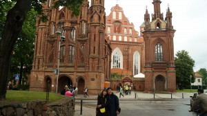 Prof. Chang-Soo Kim and Jihyun Shim in Vilnius