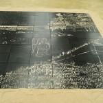 Detail of the instalation of Kang Jianfei