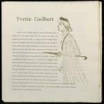 """H. de Toulouse-Lautrec """"Yvette Guilbert"""". 1894"""