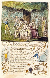 "William Blake ""Songs of Innocence and of Experience"". 1789, hand coloured intaglio"