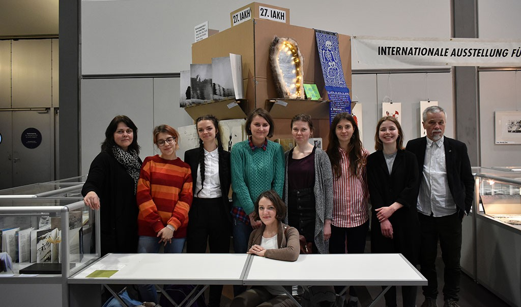 Students from the Graphic Art Department, Vilnius Academy of Arts. In the front: Paule, from the left: Laura, Elzbieta, Ieva, Dainora, Augustina, Valentina, Irma & Prof. 2Cent.