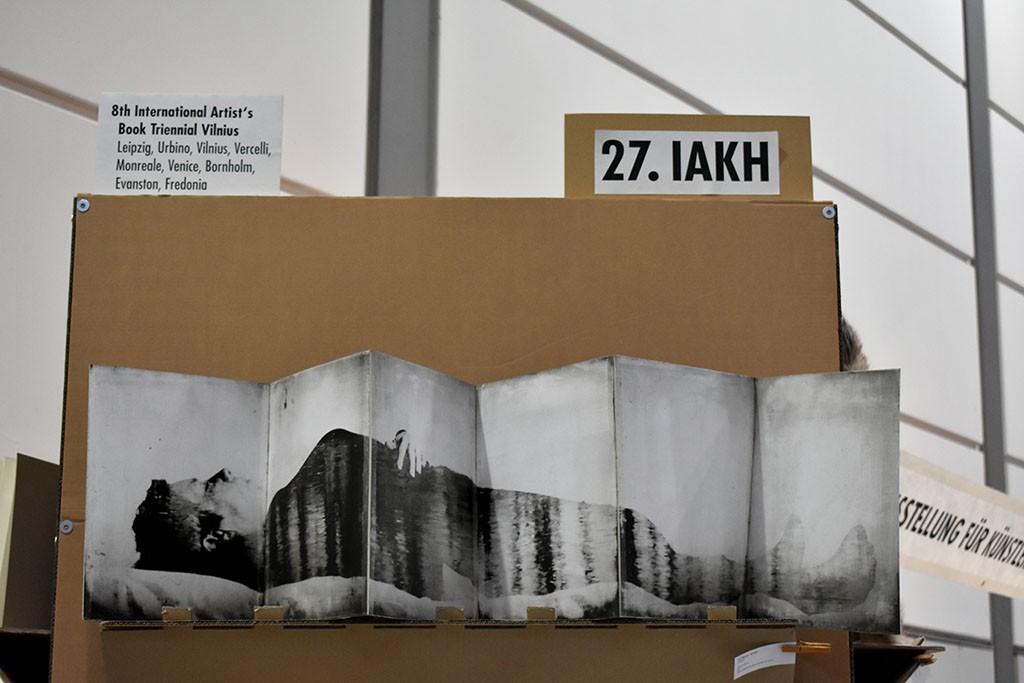 8th Artist's Book Triennial Vilnius 2018 in Leipzig. Artist's book of Lis Rejnert Jensen