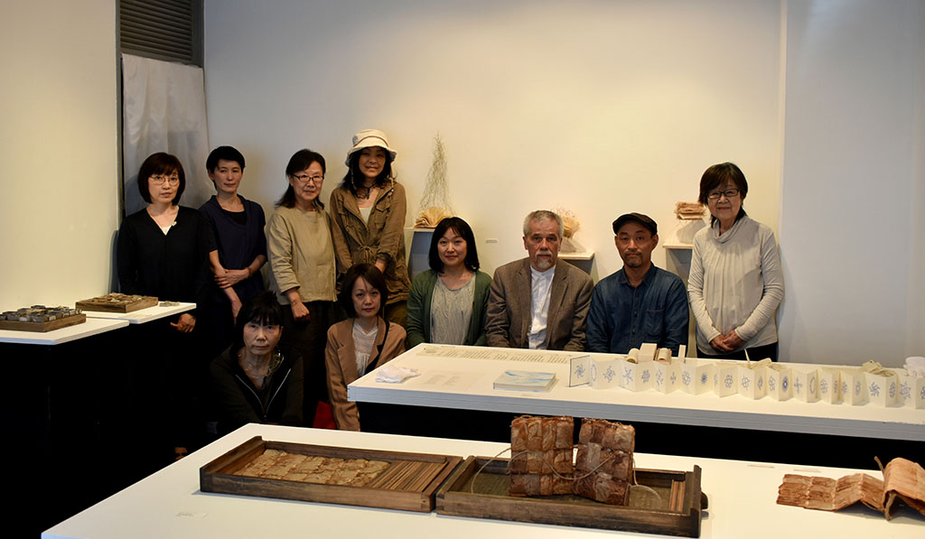 Together with an artists and the director of the Gallery Mrs. Yoshiko Yokojima