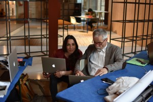 With Cecilia Giampaoli during the artist's book workshop