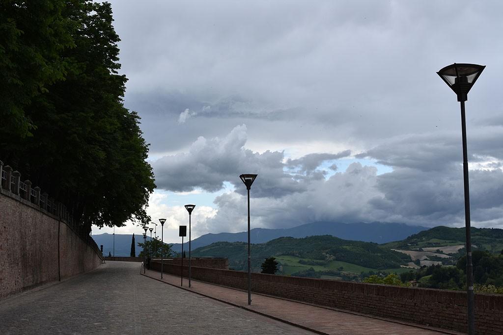 The wall of Urbino