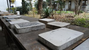 Stones for lithography in Musashino Art University