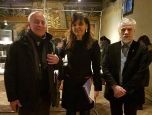 Artist Roberto Gianinetti, Mayor of Vercelli Maura Forte & Prof. Kestutis Vasiliunas