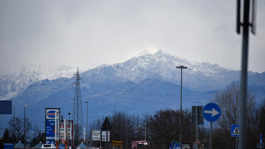 Alps from Vercelli
