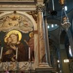 """Stefano Di Benedetto. """"Madonna del Pilastro"""", mid-14th-century, fresco"""